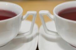 Dos tazas de té rojo foto de archivo libre de regalías