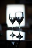 Dos tazas para el vino fotografía de archivo