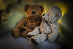 Dos Teddy Bears Next el uno al otro Foto de archivo libre de regalías