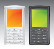 Dos teléfonos celulares Imagen de archivo