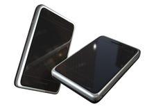 Dos teléfonos de la pantalla táctil Imágenes de archivo libres de regalías