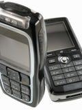 Dos teléfonos móviles foto de archivo libre de regalías