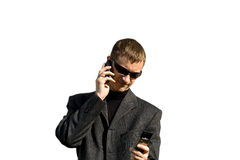 Dos teléfonos Imagen de archivo libre de regalías