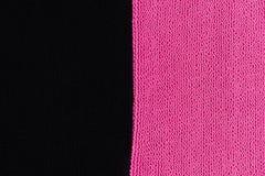 Dos texturas del pa?o que ponen en contraste Color de rosa y negro imagen de archivo libre de regalías