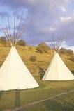 Dos tiendas de los indios norteamericanos en Aspen, CO Fotos de archivo