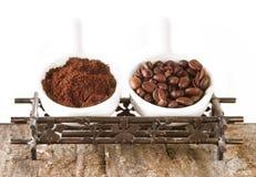 Dos tipos de café Fotografía de archivo libre de regalías
