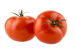 Dos tomates maduros rojos Foto de archivo libre de regalías