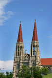 Dos torres de iglesia Imagenes de archivo