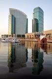 Dos torres del hotel en Dubai Foto de archivo libre de regalías