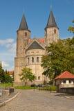 Dos torres del Romanesque Imagen de archivo libre de regalías