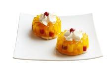 Dos tortas de la fruta Fotografía de archivo