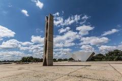 Dos Três Poderes- Brasília Praça - DF - Бразилия Стоковые Изображения RF