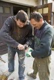 Dos trabajadores fotografía de archivo