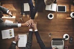 Dos trabalhos de equipa da colaboração executivos do conceito da relação Imagens de Stock