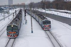 Dos trenes Foto de archivo libre de regalías
