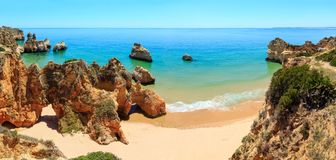 Dos Tres Irmaos Португалия пляжа Алгарве Стоковая Фотография RF