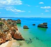 Dos Tres Irmaos Португалия пляжа Алгарве Стоковые Фото