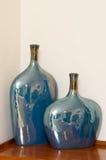 Dos vasos vida cerâmica ainda Fotos de Stock Royalty Free