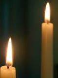 Dos velas imagen de archivo libre de regalías