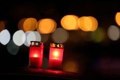 Dos velas Fotos de archivo