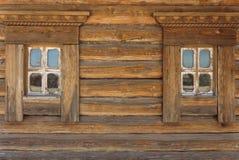 Dos ventanas de madera Fotos de archivo