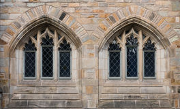 Dos ventanas en neogótico Fotos de archivo