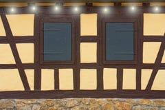Dos ventanas viejas Foto de archivo
