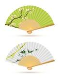 Dos ventiladores plegables japoneses libre illustration