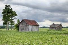 Dos vertientes de la granja en Ohio imágenes de archivo libres de regalías