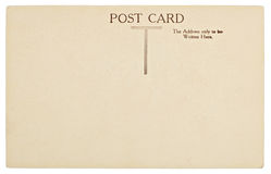 Dos vide de carte postale de cru Image stock