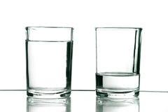 Dos vidrios Imagen de archivo libre de regalías