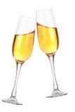 Dos vidrios con champán Foto de archivo libre de regalías