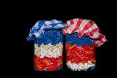 Dos vidrios de las pastas Fotografía de archivo libre de regalías
