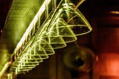 Dos vidrios de martini Imágenes de archivo libres de regalías