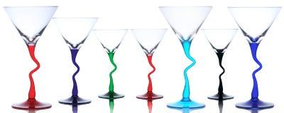 Dos vidrios de martini Fotografía de archivo