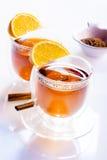 Dos vidrios de té Fotografía de archivo libre de regalías