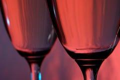 Dos vidrios de vino Fotos de archivo libres de regalías