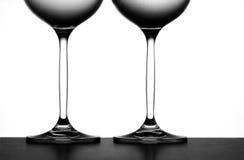 Dos vidrios de vino Foto de archivo libre de regalías