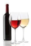 Dos vidrios de vino Imagenes de archivo