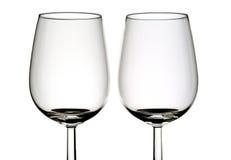 Dos vidrios de vino Imágenes de archivo libres de regalías