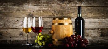 Dos vidrios de vino Imagen de archivo