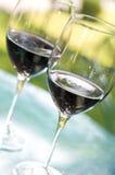 Dos vidrios de vino Imagen de archivo libre de regalías