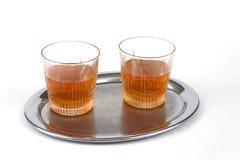 Dos vidrios de whisky Foto de archivo libre de regalías