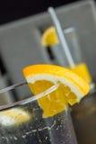 Dos vidrios de zumo de naranja Fotografía de archivo libre de regalías