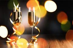 Dos vidrios del champán Foto de archivo libre de regalías
