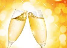 Dos vidrios del champán Imagen de archivo libre de regalías
