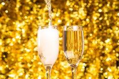 Dos vidrios del champán Imagenes de archivo