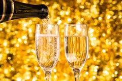 Dos vidrios del champán Fotos de archivo libres de regalías