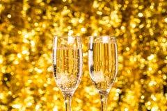 Dos vidrios del champán Imágenes de archivo libres de regalías