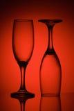Dos vidrios en luz roja Fotografía de archivo